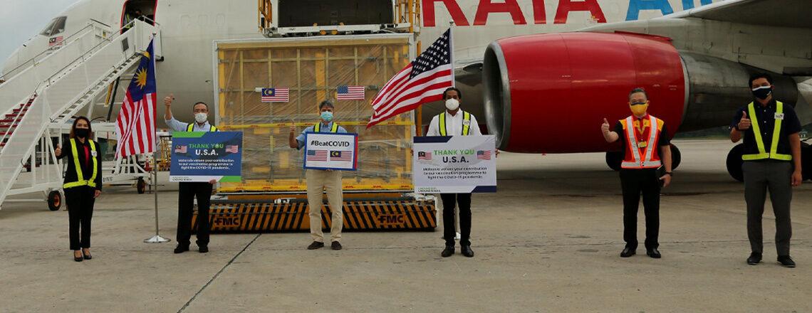 Amerika Syarikat Menyumbang 1 Juta Dos Vaksin Pfizer untuk Respons COVID-19 Malaysia