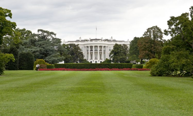 The White House viewed across the lawn