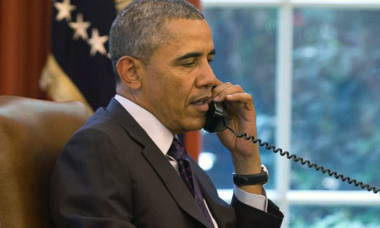 President Barack Obama on the phone (Photo: AP Photo)