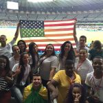 ACCESS students from Juiz de Fora travel to Belo Horizonte to cheer for the U.S Women's Soccer Team during the Olympic Games