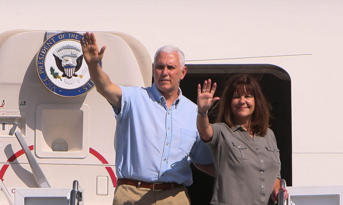 U S  Vice President Mike Pence, and Second Lady Pence Visit