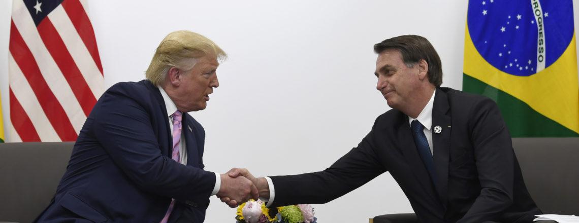 Declarações do presidentes Trump e Bolsonaro antes da reunião bilateral do G-20