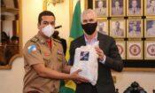 Consul General Scott Hamilton and Colonel Leandro Sampaio Monteiro, State Civil Defense Secretary and General Commander of the Rio de Janeiro State Fire Department