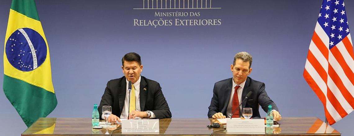 Declarações dos EUA e do Brasil à imprensa no Itamaraty