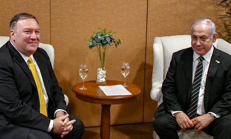 Secretary Pompeo seated beside Israeli Prime Minister. (Photo: State Department)