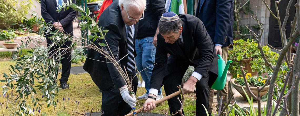 Planted an olive tree at the Ambassador's Residence in Jerusalem with KKL-JNF