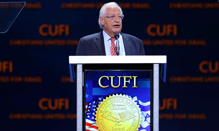 Ambassador Friedman's Remarks at Christians United for Israel