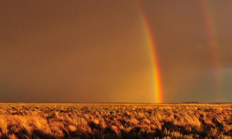 Double Rainbow over Sage Steppe on Seedskadee National Wildlife Refuge, Wyoming. (USFWS/Tom Koerner)