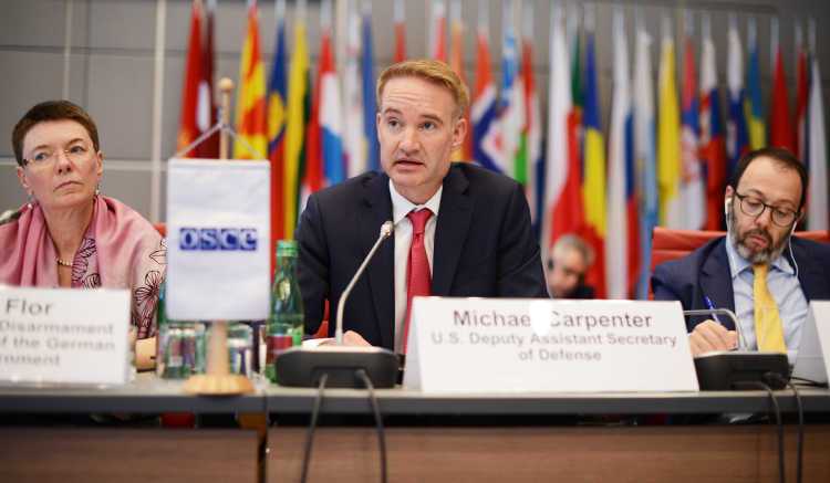 Deputy Assistant Secretary of Defense for Russia, Ukraine, & Eurasia Dr. Michael R. Carpenter at the Annual Security Review Conference, Vienna, June 29, 2016. (USOSCE/Colin Peters)