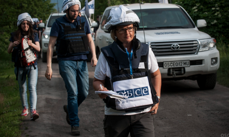 OSCE monitors in eastern Ukraine.