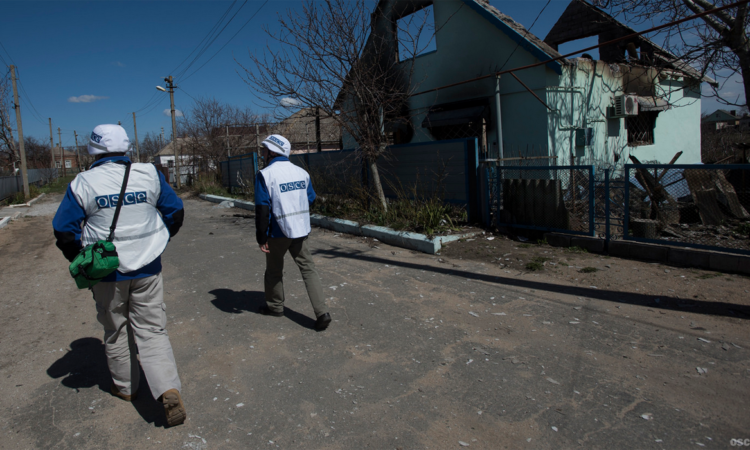 OSCE monitors in eastern Ukraine (OSCE file photo/2015)