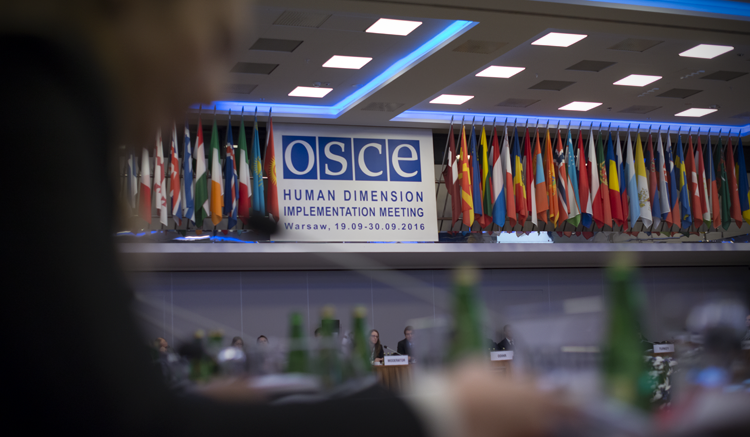The OSCE Human Dimension Implementation Meeting 2016. (USOSCE/Colin Peters)