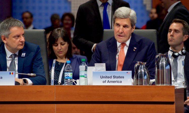 Secretary of State John Kerry at the 2016 OSCE Ministerial Council, Hamburg, Germany, Dec. 8, 2016. (State Department Photo)