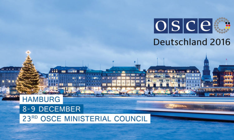 The 23rd Meeting of the OSCE Ministerial Council will be held in Hamburg on 8 and 9 December 2016. (www.mediaserver.hamburg.de/Jörg Modrow)