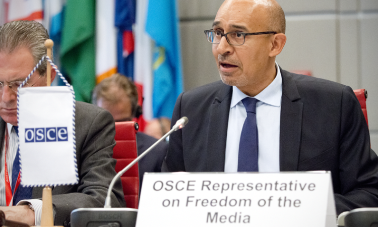 OSCE Representative on Freedom of the Media Harlem Désir. (USOSCE/Colin Peters)