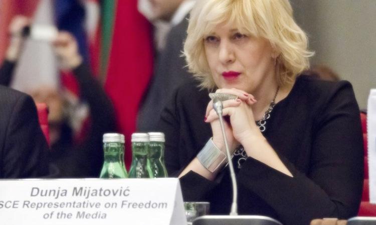Представитель по вопросам свободы СМИ Дунья Миятович (Фото: OSCE)