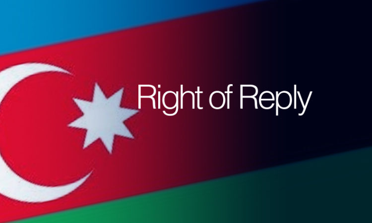 Azeri Flag Right of Reply