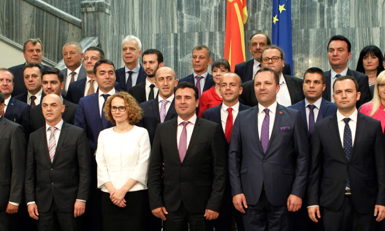 New government in Macedonia