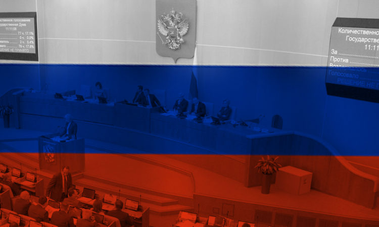Russian Duma under Russian Flag
