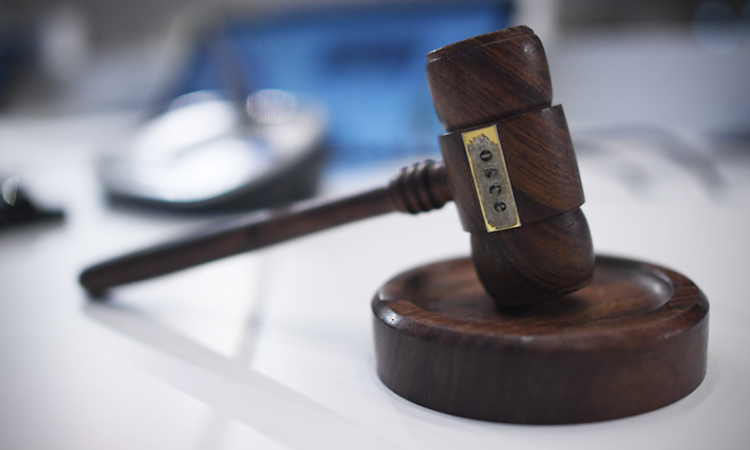 Gavel used at the 2018 meeting of the OSCE Ministerial Council to signal the adoption of new OSCE decisions and declarations. Milan, Italy, December 7, 2018. (USOSCE/Colin Peters)
