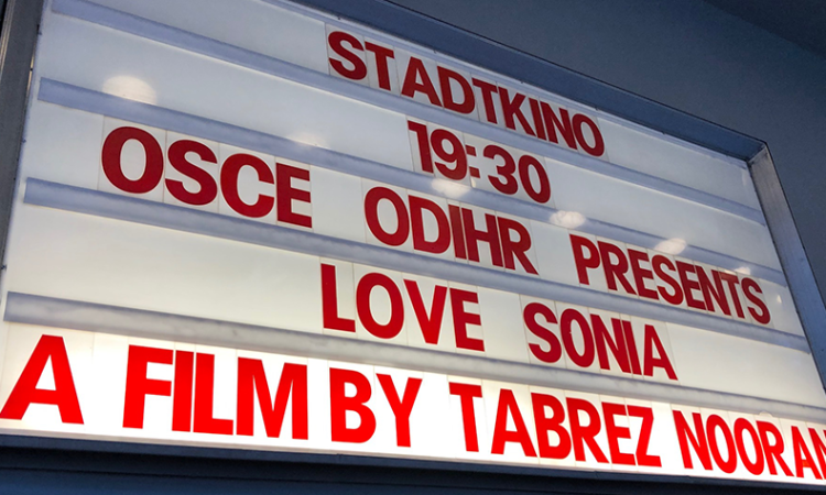 "On May 27, 2019 the OSCE Office for Democratic Institutions and Human Rights (ODIHR) hosted a film screening for ""Love Sonia"", the stunning story about a girl entangled in the world of global sex trafficking."