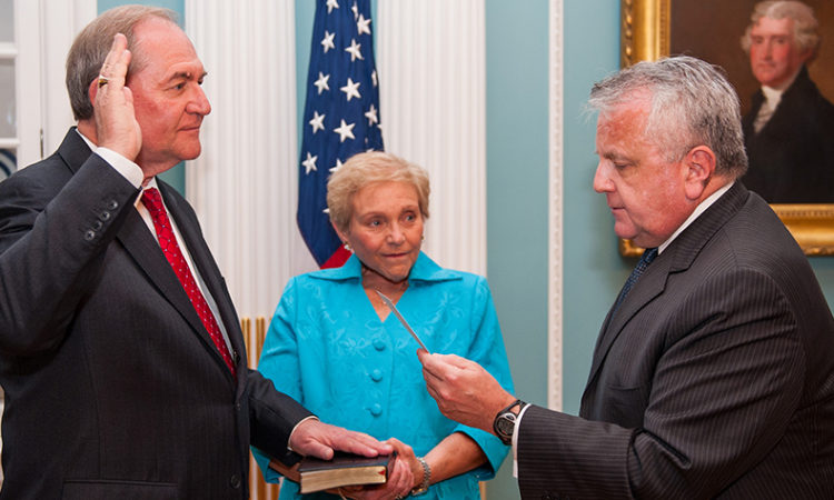 On June 25, James S. Gilmore was sworn in as U.S. Ambassador to OSCE by John J. Sullivan, Deputy U.S. Secretary of State.