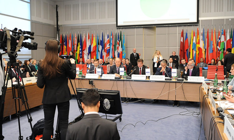 OSCE bids farewell to SMM Chief Monitor Ambassador Ertuğrul Apakan at the Permanent Council on May 30, 2019