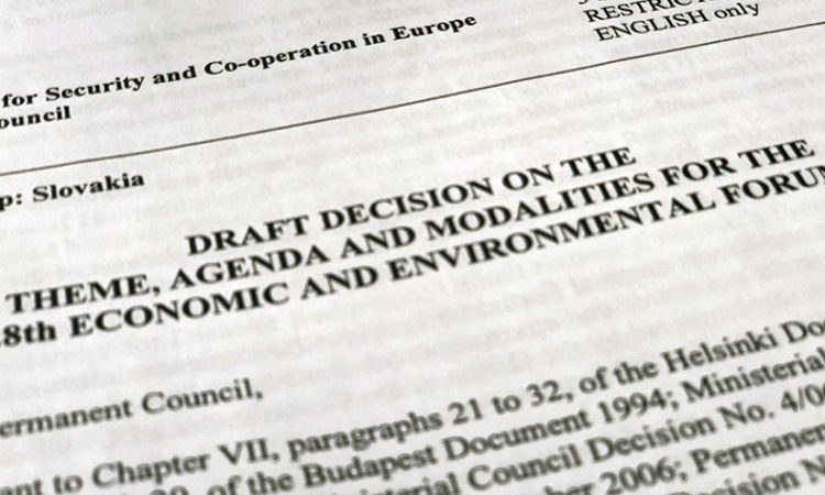 Draft Decision on the Theme, Agenda, and Modalities for the 28th Economic and Environmental Forum