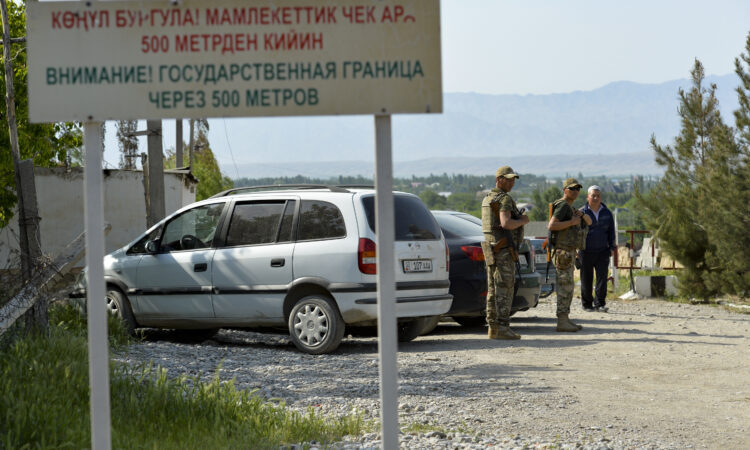 Neighboring Kyrgyzstan and Tajikistan have agreed to withdraw troops from their borders (AP Photo/Vladimir Voronin)