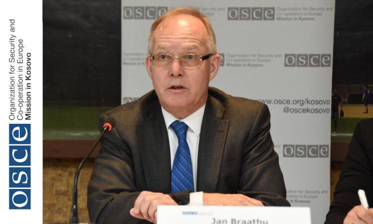 Head of the OSCE Mission in Kosovo, Ambassador Jan Braathu,Istog/Istok.