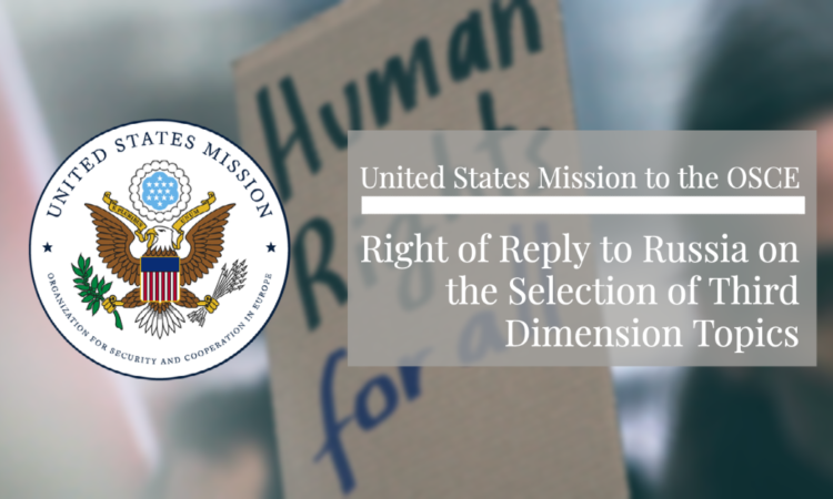 We support the Chairpersonship's reliance on the Human Dimension Committee.