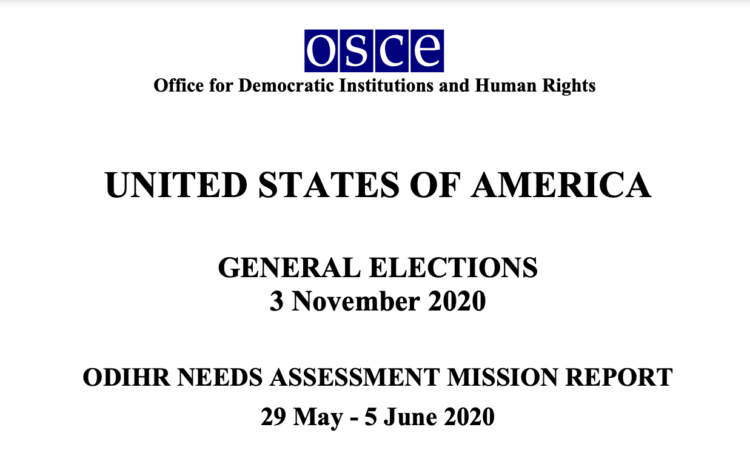 ODIHR has just published its final report, and the United States is grateful for the professional and detailed manner in whichODIHR conducted its work.
