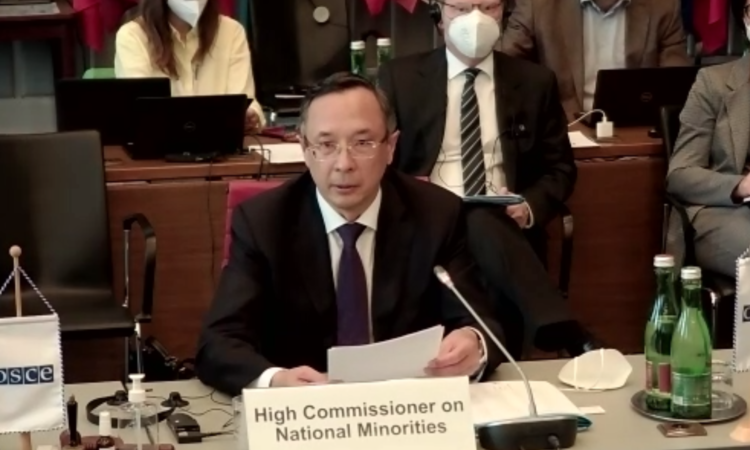 High Commissioner on National Minorities, Ambassador Kairat Abdrakhmanov addressing the Permanent Council for the first time.