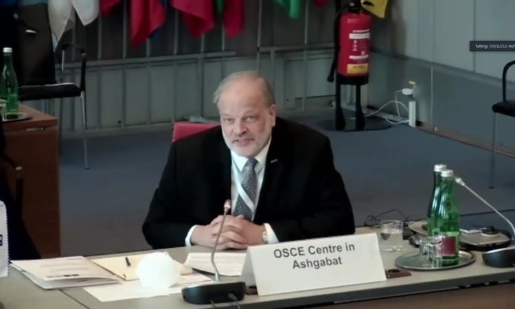 Report by the Head of the OSCE Centre in Ashgabat, Ambassador John MacGregor.