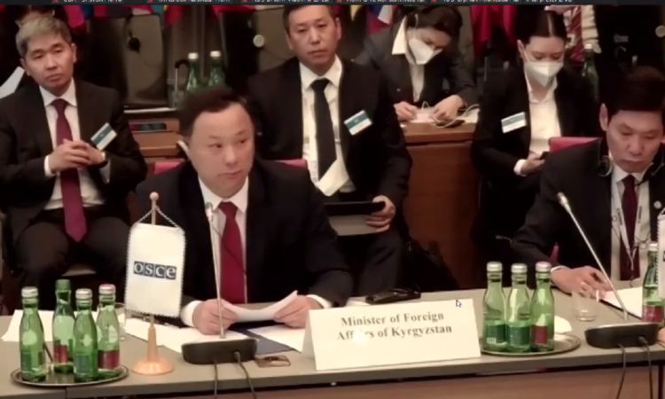 Address by Minister for Foreign Affairs of Kyrgyzstan, H.E. Mr. Ruslan Kazakbaev at the Permanent Council