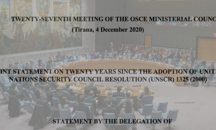 UNSCR JOINT STATEMENT