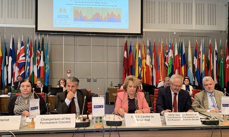 Report of the Chief Observer, Ambassador Gyorgy Varga to the OSCE Permanent Council, June 13, 2019 (photo: USOSCE/Mahvish Khan)