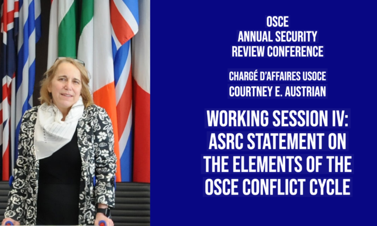 As we commemorate the 10th anniversary of the 2011 OSCE Ministerial decision on the Elements of the Conflict Cycle, we should consider the impact of this decision and what we can do to strengthen it moving forward.