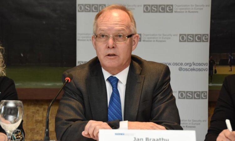 Head of the OSCE Mission to Serbia, Ambassador Jan Braathu (OSCE)