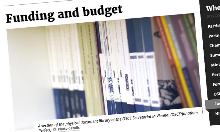 OSCE budget