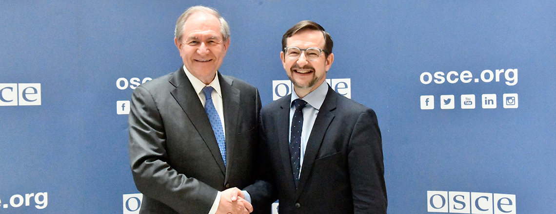 Arrival of James Gilmore, New U.S. Ambassador to the OSCE