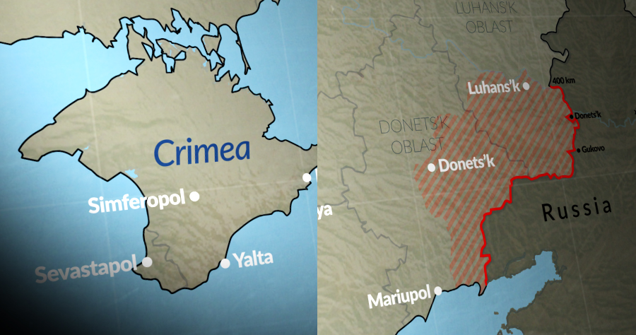 Russia's ongoing aggression in eastern Ukraine and occupation of Crimea is now in its eighth year.
