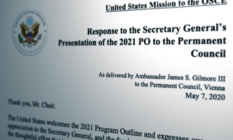 PC statement on Program Outline