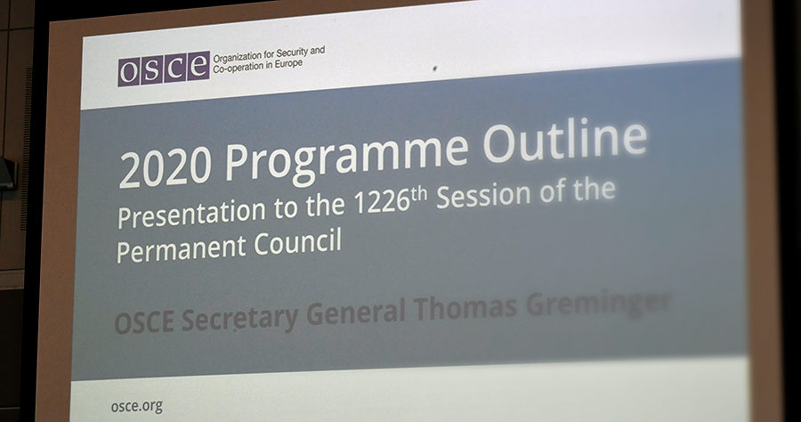 On the OSCE Secretary General's Briefing on Program Outline | U S