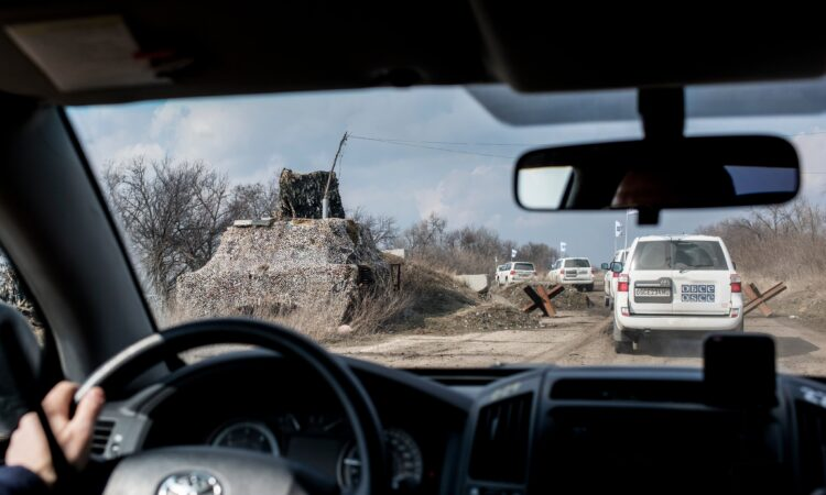 The SMM also continues to report on instances in which Russia-led forces restrict the Freedom of Movement of its monitors. (OSCE/SMM)
