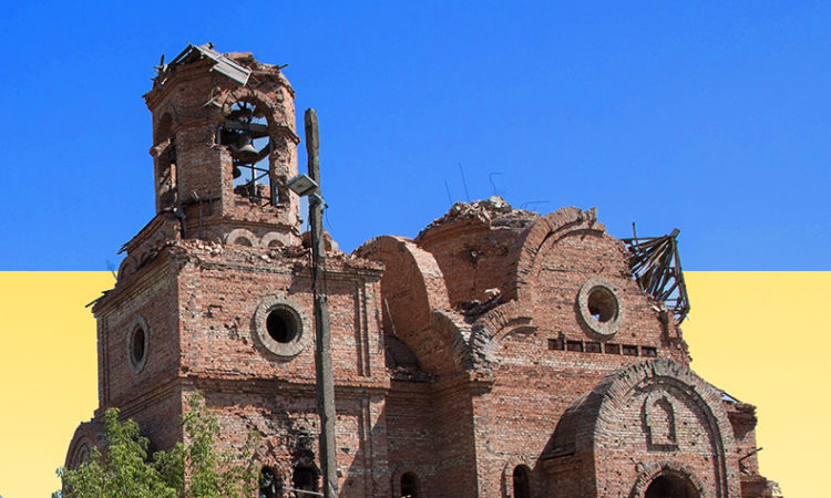 damaged church