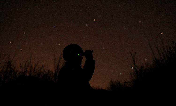 ukrainianSoldier at night