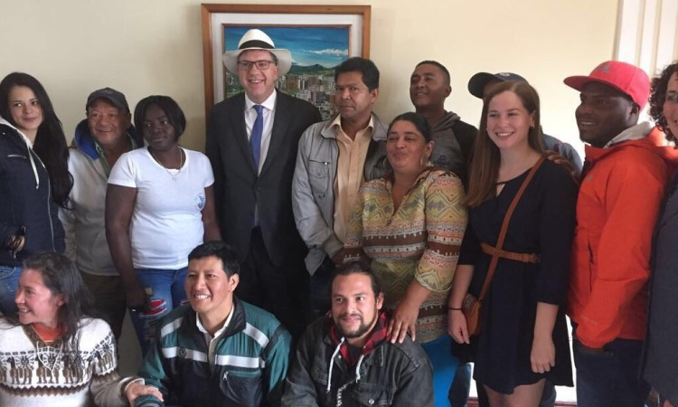 Ambassador Chapman meets with organizations providing services to refugees in Ecuador
