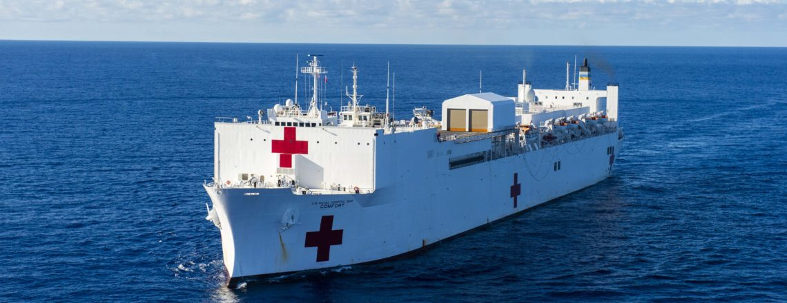 El buque hospital USNS Comfort