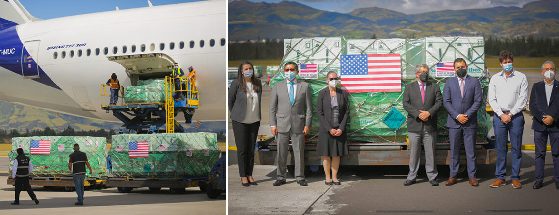 The US completes the donation of 2 million Pfizer vaccines to Ecuador.